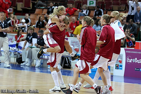 4. Elina Babkina (Latvia) - celebration