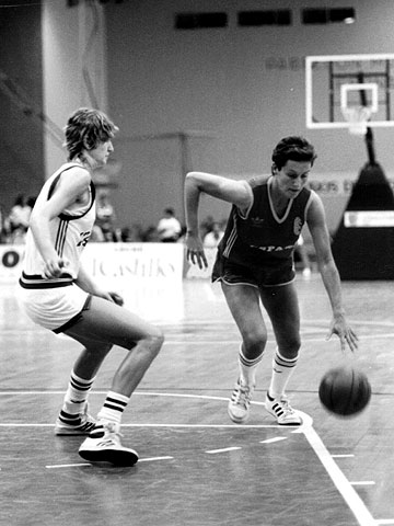 Spain's Rosa Castillo at the 1987 European Championship for Women in Spain
