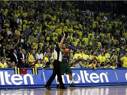 Fenerbahce fans at the FIBA Europe League Final Four