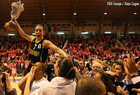 7. Laine Selwyn (Elitzur Ramla) - EuroCup Women 2011 Final, Celebration, Trophy