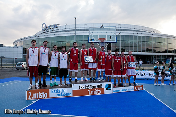 SPS Praha - winners of elite men category. Down by four with a minute to go they managed to drain two shots from beyond the ark and win it all with a free-throw during the final seconds of the game