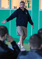 Richard Stokes at the pre-season clinic for referees and commissioners in Kyiv