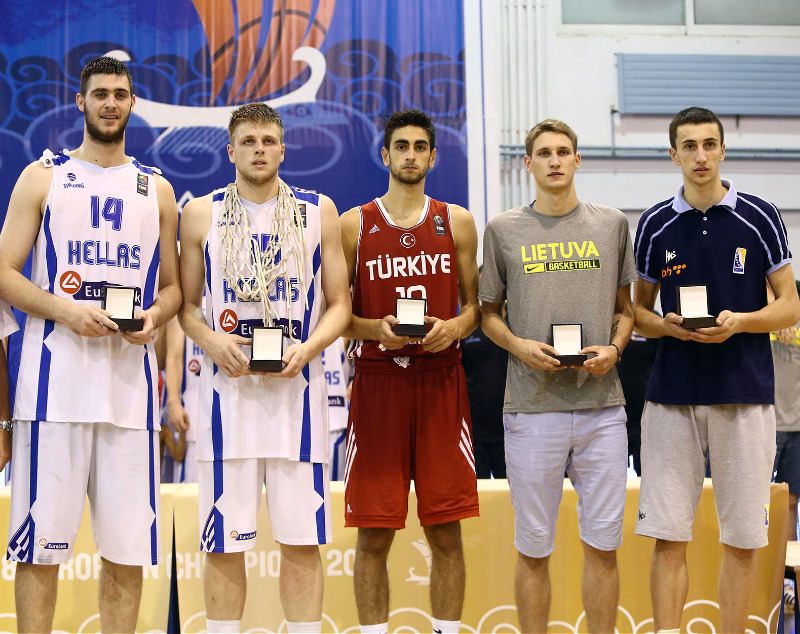 All-Star Five: G. Papagiannis (GRE), V. Charalampopoulos (GRE), F. Korkmaz (TUR), M. Varnas (LTU), E. Atic (BIH)