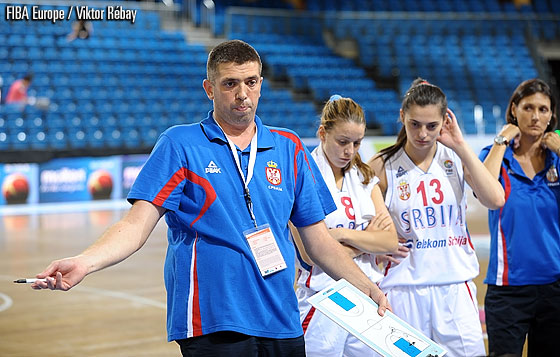 Serbia head coach Radenko Varagic