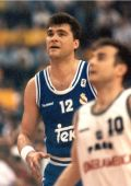 Real Madrids Arvydas Sabonis at the 1995 EuroLeague Final Four