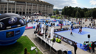 FIBA Europe 3on3 stop in Moscow, 1 September 2012