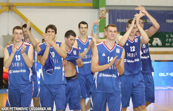 Serbia celebrate victory over Turkey