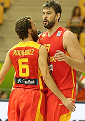 6. Sergio Rodriguez (Spain), 13. Marc Gasol (Spain)