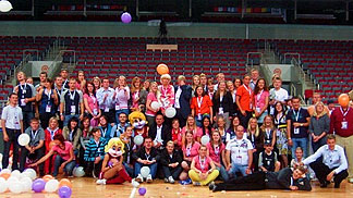 Volunteers at EuroBasket Women 2009 in Riga, Latvia