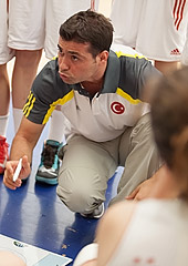 Turkey head coach Halil Demirbilek