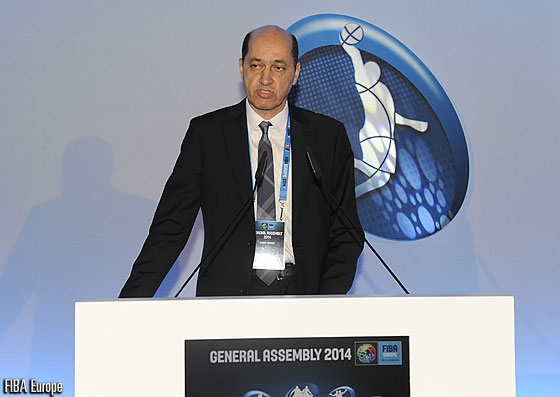 Pre-election presentation by Turgay Demirel (TBF President) at the FIBA Europe General Assembly 2014
