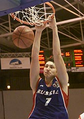 Nikita Kourbanov (RUS) had 27 points and 20 rebounds against Georgia
