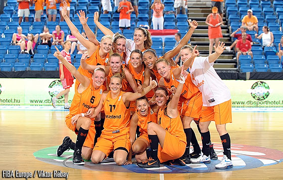 The Netherlands celebrate their Quarter-Final victory
