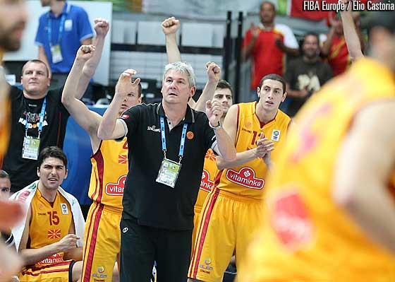 F.Y.R. of Macedonia head coach Ales Pipan