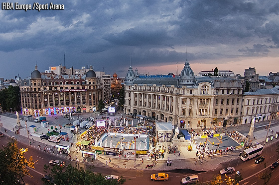 University Square in Bucharest: The destination for the inaugural 3x3 European Championships