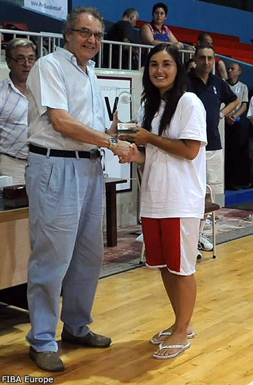 Fair-Play Award for the Gibraltar team (Alexandra Mauro, team captain)