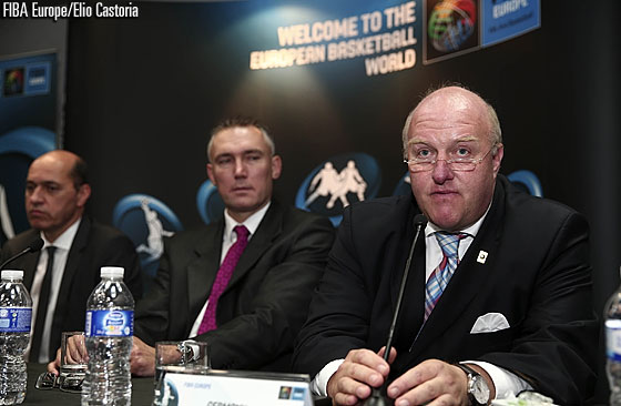 Ingo Weiss, President of the German Basketball Federation, at the press conference on the EuroBasket 2015 hosts on 8 September 2014 in Madrid