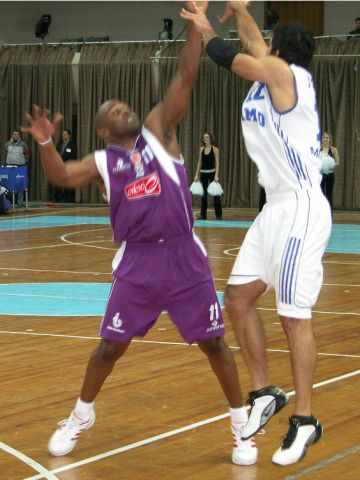 Damir Mrsic lets the ball fly