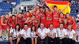 Spain, U18 European Championship Women 2010 silver medallists