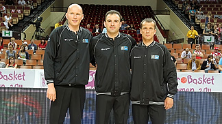 Aliaksandr Syrytsa (left) and Aare Halliko (right) will both officiate at the U17 World Championships this summer