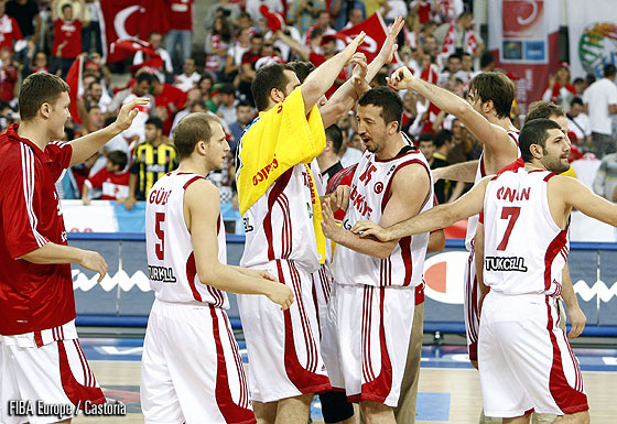 Turkey celebrating