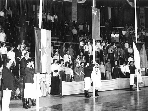 The closing ceremony of the 1978 European Championship for Women in Poland