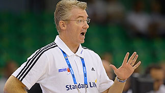 Great Britain head coach Joe Prunty
