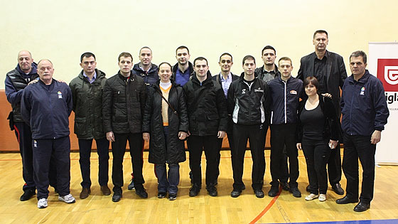 Participants in the clinic for Potential National Referees in Sarajevo, Bosnia-Herzegovina