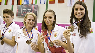 Hungary won the bronze medal at the 2012 U20 European Championship Women Division B