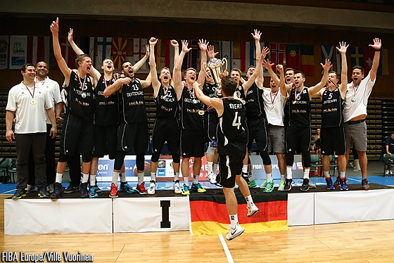 Germany celebrate a return to Division A