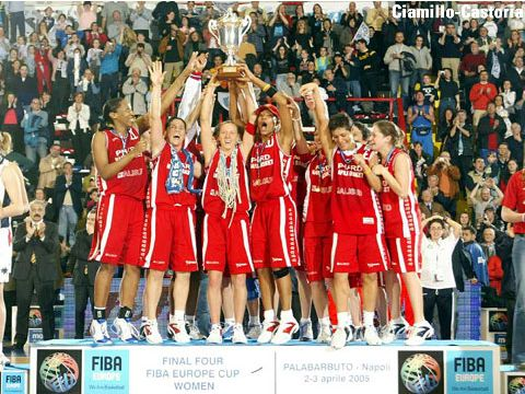 Winner of the FIBA Europe Cup Women 2005: Phard Napoli