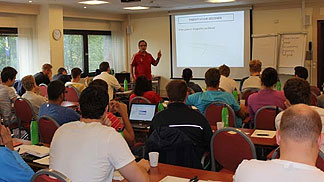 Referee Instructor Victor Mas lectures at the Referee Clinic in Oslo (8-9 September 2012)