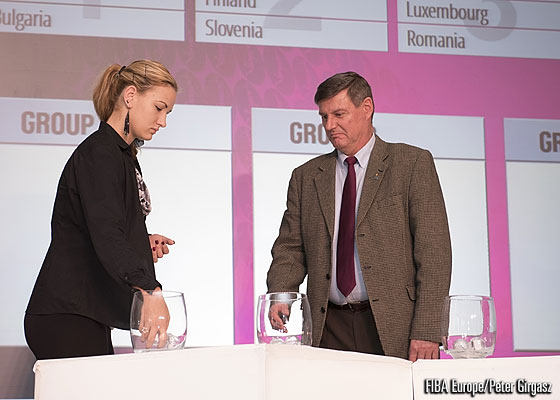FIBA Europe Youth Ambassador Natasa Kovacevic at the 2014 FIBA Europe Youth Championship Draws
