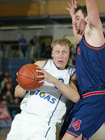 Jonas Elvikis (MBC) had 18 points in the Play-Off game against KK Hiron