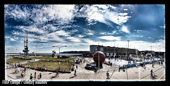 Kosciuszko Square in Gdynia - yet another amazing location for our 3x3 EuroTour event