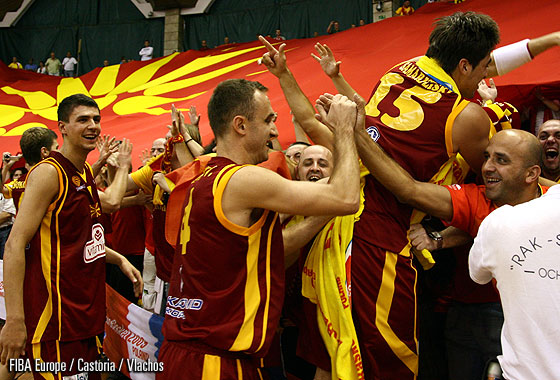 F.Y.R. of Macedonia celebrating