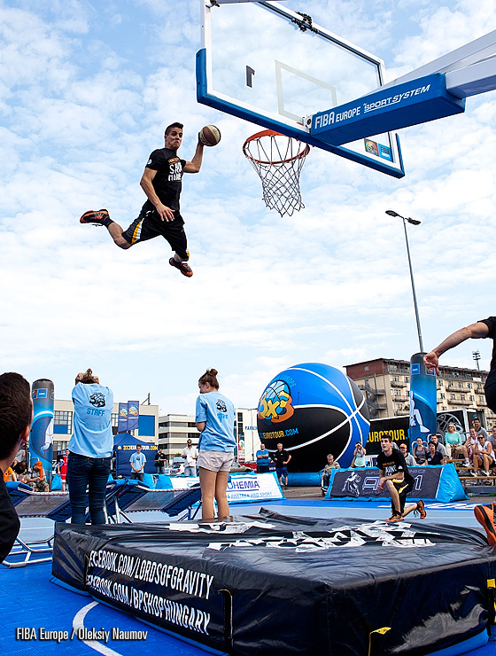 "Lords of Gravity entertained the crowd at the second 3x3 EuroTour event this season. They supported their injured teammate, Csanad, by writing ""Thank you God for saving him"" on their shirts"