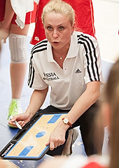 Russia head coach Evgeniya Nikonova