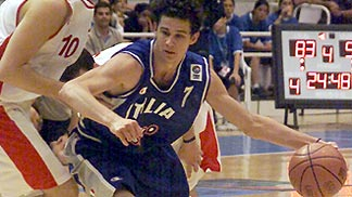 Luca Vitali (Italy) guarded by Rezo Didia (Georgia)