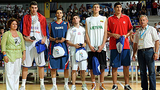 All Tournament Team U18 European Championship Men 2009