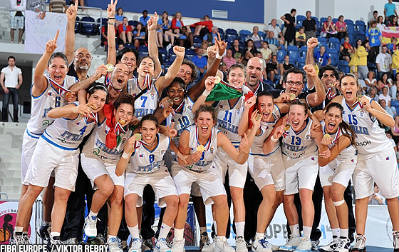 Italy, U18 European Championship Women 2010 winners