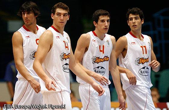 Spain players at U18 Men 2011