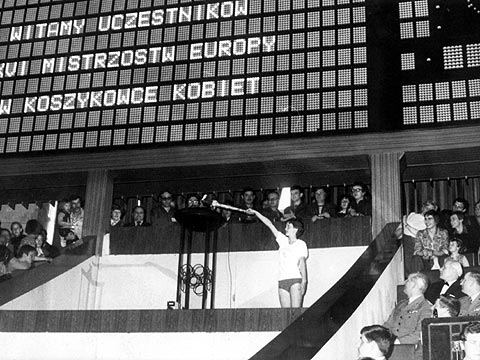 The opening ceremony of the 1978 European Championship for Women in Poland