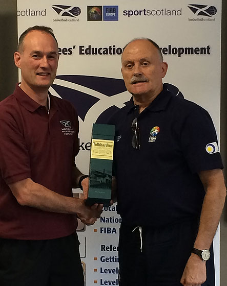 Chris Dodds (FIBA Europe National Instructor), Alan Richardson (FIBA Europe Referee Department)