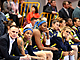 A downcast Fenerbahce bench following the gold medal game loss