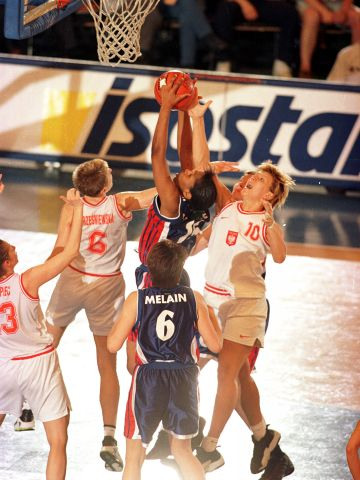 France vs Poland during the final of the 1999 European Championship for Women in Poland