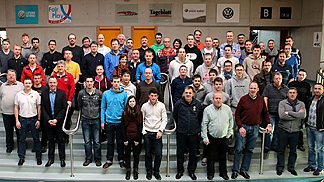 Participanting referees and commissioners of the mid-season refresher clinic in Luxembourg