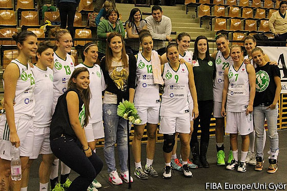 Natasa Kovacevic was on hand to cheer on Uni Gyor in their latest EuroLeague Women encountercounter