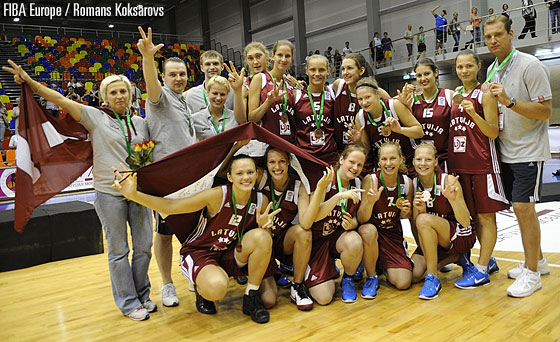 Latvia win the bronze medal at the U20 European Championship Women in 2010