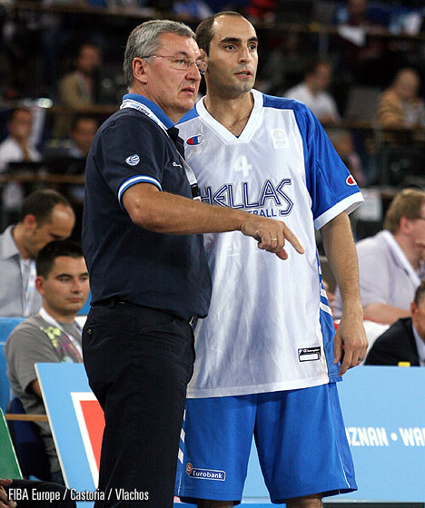 Head Coach Jonas Kazlauskas and Ioannis Kalampokis (Greece)